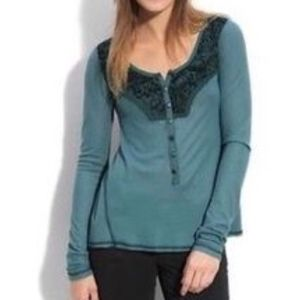 Free People Tops - FREE PEOPLE | Diego embellished henley thermal 603